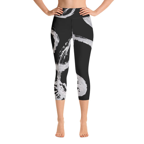 Imperfect Black Yoga Capri Leggings