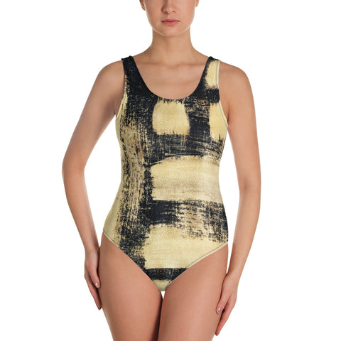 Imperfect One-Piece Swimsuit-Gold