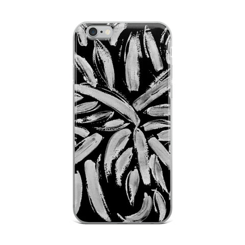 Imperfect Clizia Leaves Black iPhone Case