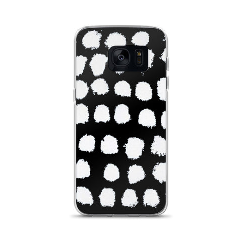 Imperfect white clizia dots Samsung Case