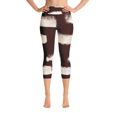 Imperfect Gold 1 Yoga Capri Leggings