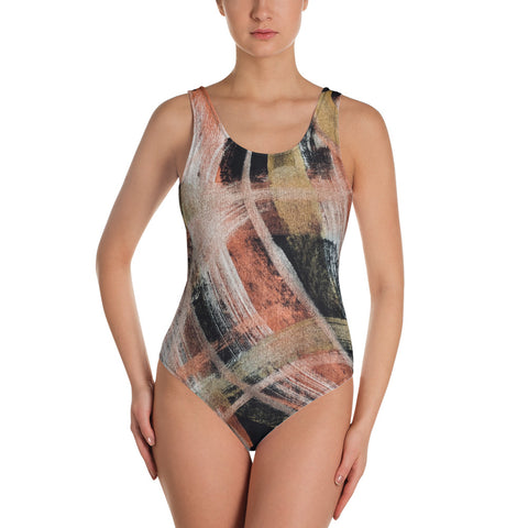 Imperfect One-Piece Swimsuit_Gold&Copper