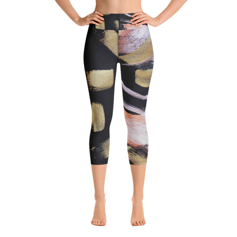 Imperfect Gold 77 Yoga Capri Leggings