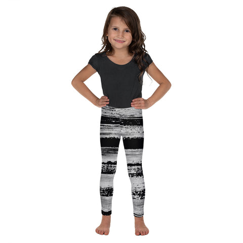 Imperfect Black Stripes Kid's Leggings