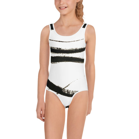 Imperfect waves All-Over Print Kids Swimsuit