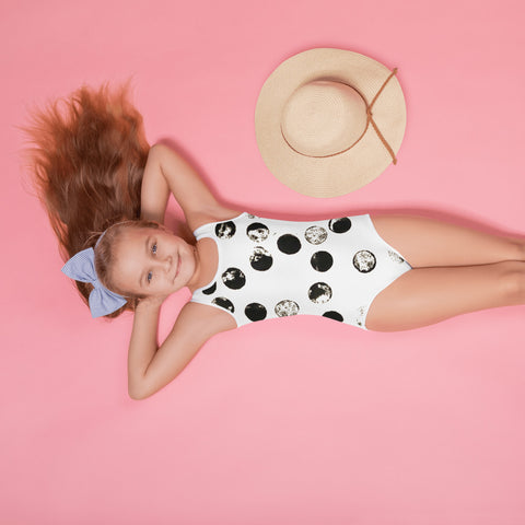 Imperfect Moons All-Over Print Kids Swimsuit