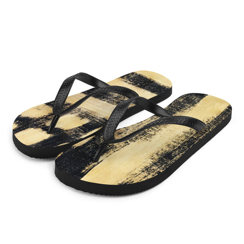 Imperfect Gold Flip-Flops