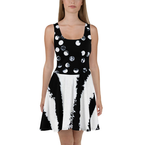 Imperfect Clizia Dots Skater Dress