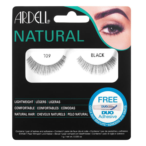 Ardell Natural Lashes 109 Black with Free DUO Lash Adhesive Clear 1g