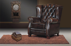CLUB WING CHAIR CHESTERFIELD