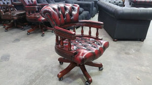 ADMIRALS OFFICE CHAIR - Classic Chesterfield