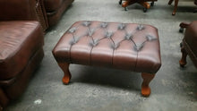 Load image into Gallery viewer, CHESTERFIELD QUEEN ANNE FOOT STOOL