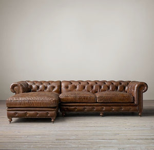 WATERLOO CHAISE SOFA - Classic Chesterfield