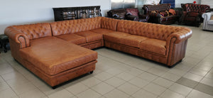 PREMIER L SHAPE with CHAISE - Classic Chesterfield