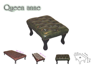 CHESTERFIELD QUEEN ANNE FOOT STOOL