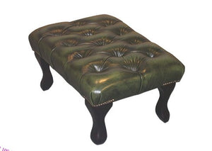 QUEEN ANNE FOOT STOOL - Classic Chesterfield