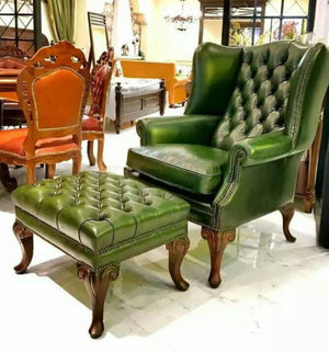 DUNHILL WING CHAIR CHESTERFIELD