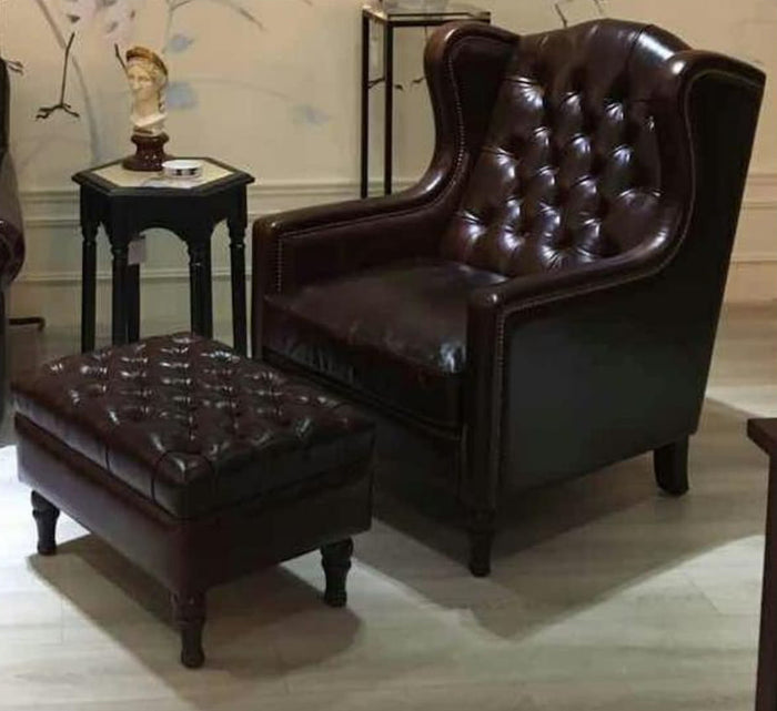 LONDON WING CHAIR CHESTERFIELD