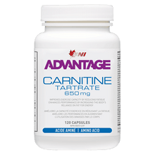 Load image into Gallery viewer, Advantage L-Carnitine Tartrate 120 caps