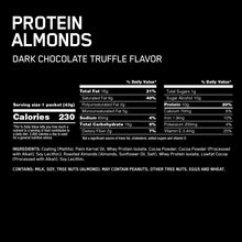 Load image into Gallery viewer, Optimum Nutrition Protein Almonds 12x43g