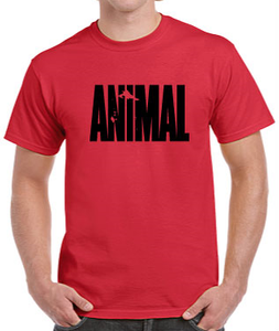 T-Shirt Animal/Vikings Red