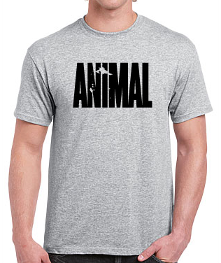 T-Shirt Animal/Vikings Grey