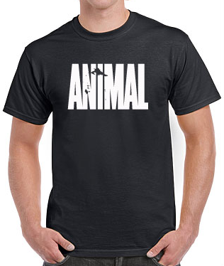 T-Shirt Animal/Vikings Black