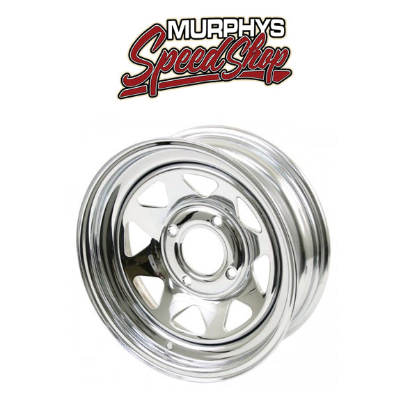 EMPI 10-1010 CHROME SPOKE 4 LUG / 7in WIDE