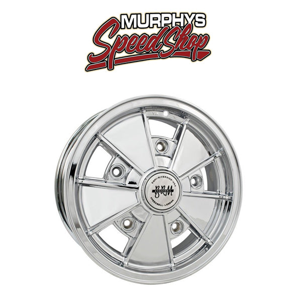 "EMPI 10-1087 17"" X 7"" VW BUG 5 LUG CHROME EMPI BRM WHEEL INCLUDES CAP-VALVE STEM"