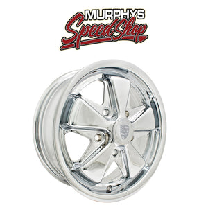 "EMPI 10-1102 911 ALLOY WHEEL, All Chrome, 6"" Wide, 5 on 130mm"
