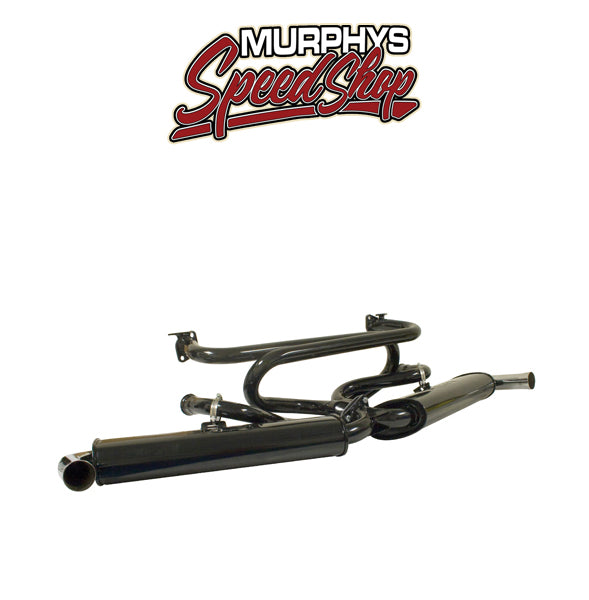 Empi 3121 PREMIUM EXHAUST HEADER, With Dual Quiet Mufflers, For Beetle