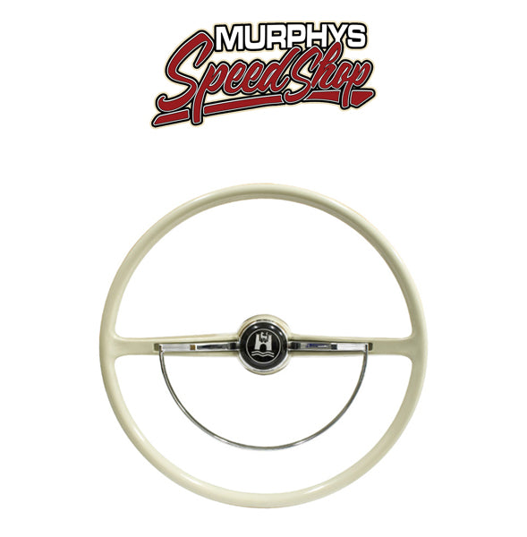 EMPI 79-4006 STEERING WHEEL, For Beetle 62-71, Ghia 62-71, Silver