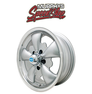 "EMPI 9695 GT-5 WHEEL, Silver With Polished Lip, 5.5"" Wide, 5 on 112mm"