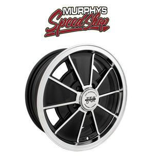 "EMPI 9697 15"" X 5-1/2"" VW BUS 5 LUG BLACK EMPI BRM WHEEL INCLUDES CAP-VALVE STEM"