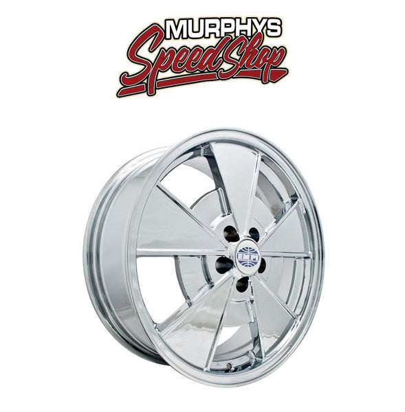 "EMPI 9737 17"" X 7"" ""NEW BEETLE"" 5 LUG CHROME EMPI BRM WHEEL INCLUDES CAP-VALVE STEM"