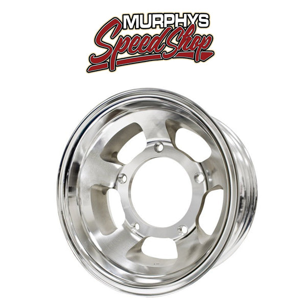 "EMPI 9762 RACE-TRIM 15"" X 6-1/2"" VW BAJA BUG 5 LUG OFF ROAD ALUMINUM WHEEL"