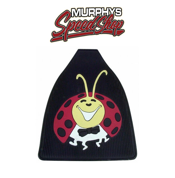 EMPI 15-1097 Vw Bug Front Rubber Floor Mats With Colored Lady Bug Impression