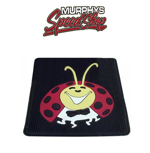 EMPI 15-1098 Vw Bug Rear Rubber Floor Mats With Colored Lady Bug Impression