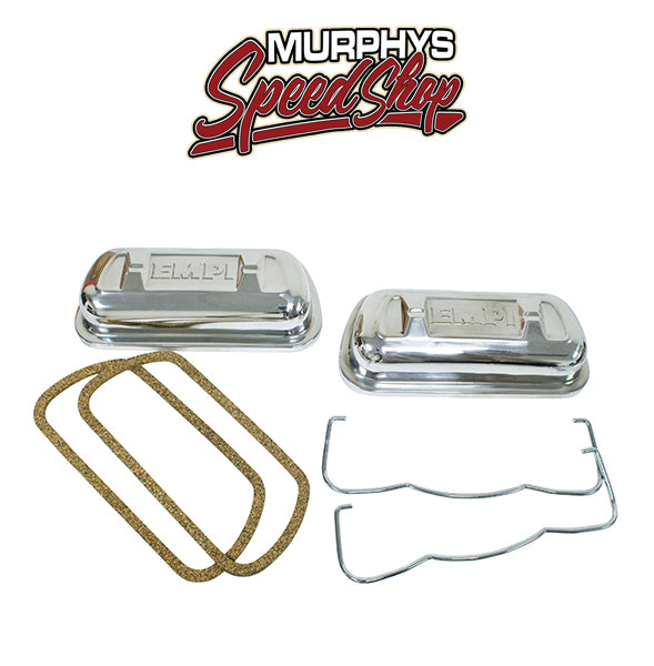 EMPI 16-9470 VALVE COVERS, Stainless Clip On, Fits 1500cc & Up