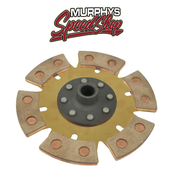 "EMPI 16-9901 Heavy Duty 6 Puck 200mm/8"" Rigid Clutch Disc Vw Spline Hole"