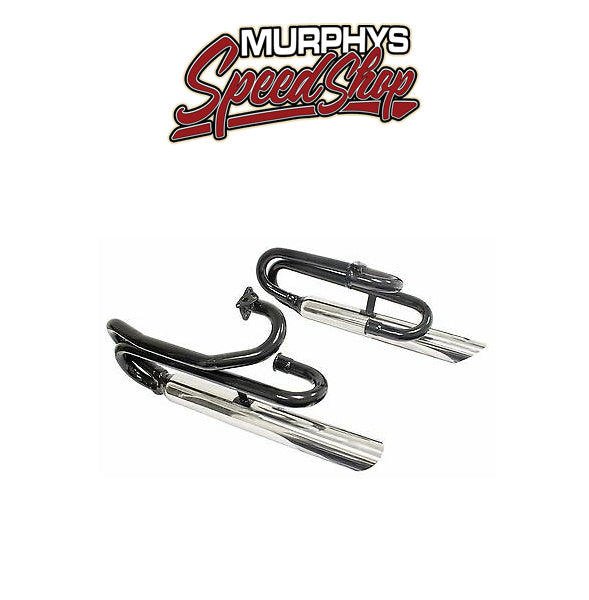 EMPI 18-1048 Low Dual Zooms W/Chrome Mufflers