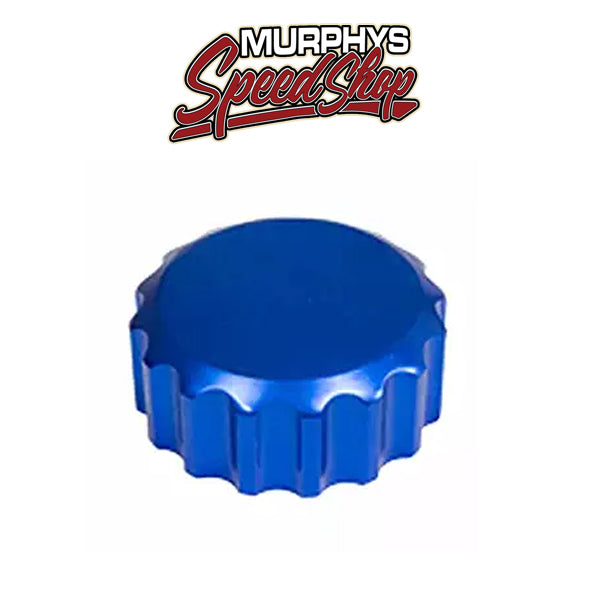 EMPI 18-1078 Billet Blue Oil Filler Cap w/Grooves
