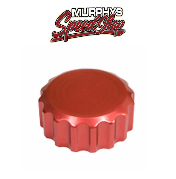 EMPI 18-1079 Billet Red Oil Filler Cap w/Grooves