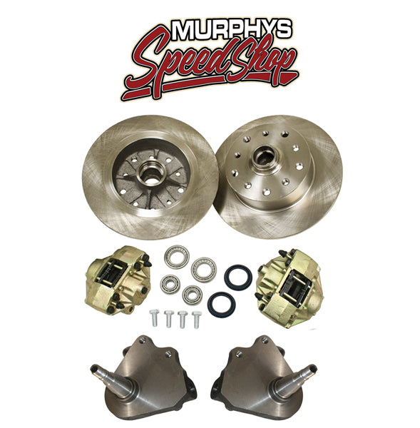 EMPI 22-2882 DROP SPINDLE KING PIN FRONT DISC BRAKES 1949-65, 5LUG PORSCHE/CHEVY