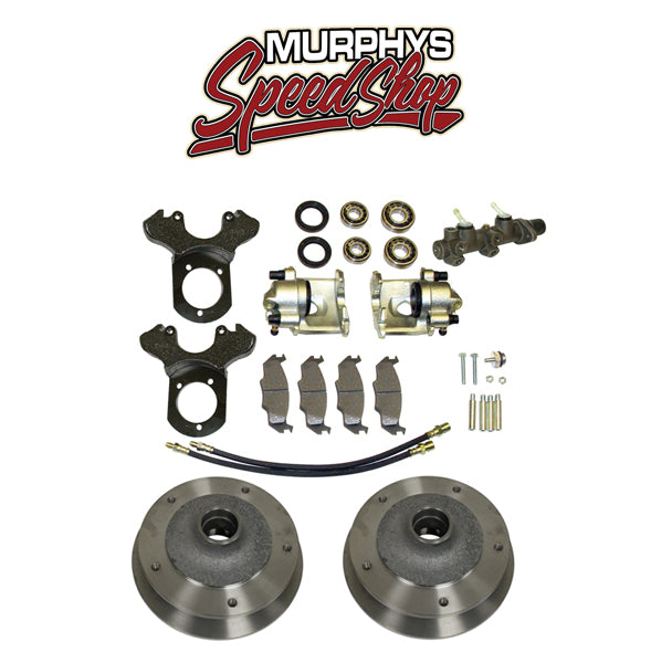 EMPI 22-2885 VW BUG BALL JOINT FRONT DISC BRAKE KIT 1966-1967, 5 LUG VW PATTERN