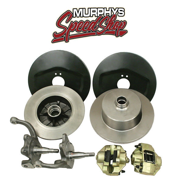 EMPI 22-2921 VW BUG BALL JOINT FRONT DISC BRAKE KIT, BLANK NO LUG HOLES