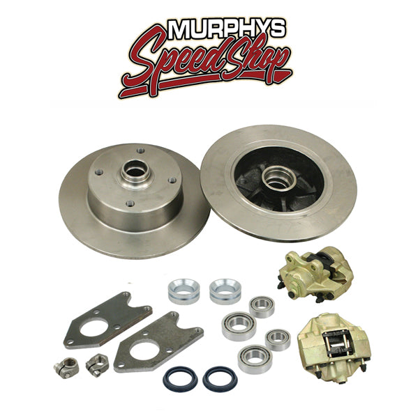 EMPI 22-2986 VW BUG KING PIN FRONT DISC BRAKE KIT, 4 LUG VW PATTERN