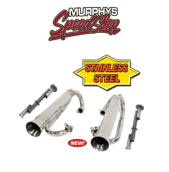 EMPI 3759 Chrome Buggy Dual Racing Exhaust System
