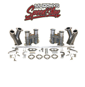 EMPI 47-7331 Dual 48 EPC Carburetor Kit With Race Manifolds & Hex Bar Linkage