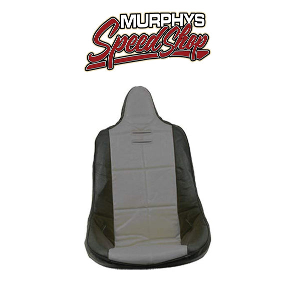 EMPI 62-2353 Grey Vinyl High Back Poly Seat Cover. Dune Buggy Vw Baja Bug, Each